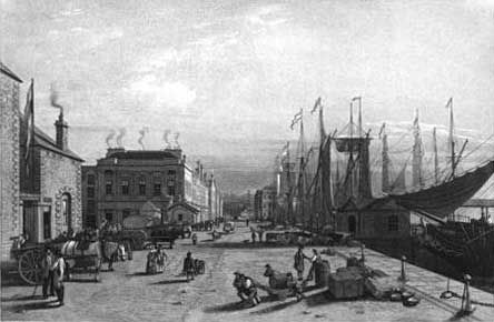 Dundee docks - from Forfarshire Illustrated by Gershom Cumming