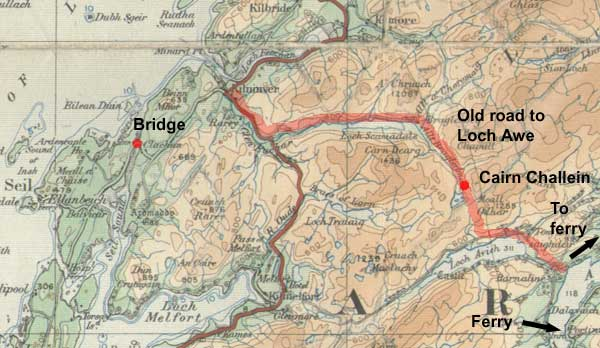 Kilninver - old road to Loch Awe
