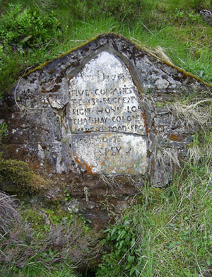 Commemorative stone at the Well of the Lecht