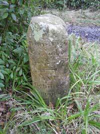 One of a collection of milestones at Montgreenan - click for larger image