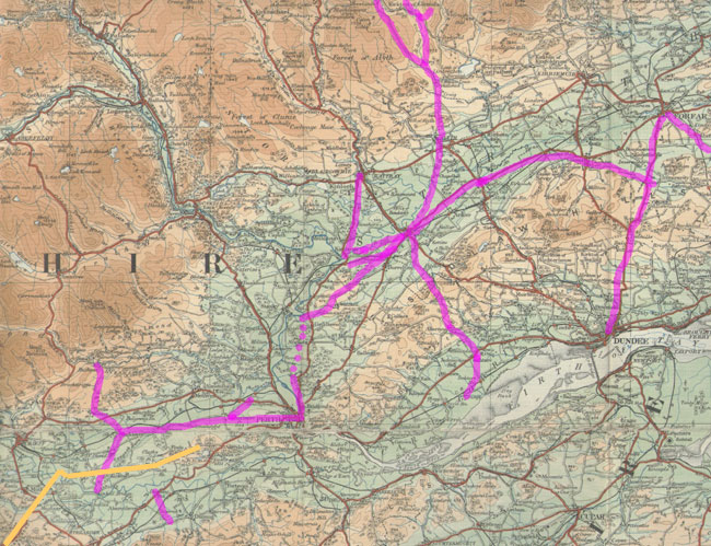 Overview map of Perthshire