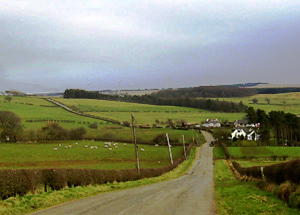Road from Eaglesham to Cleughearn Lodge, started by the Earl of Eglinton